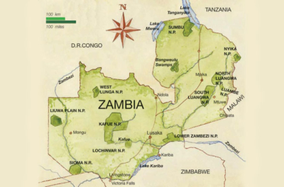 Map Of Africa Zambia.Zambia African View Tours And Safaris